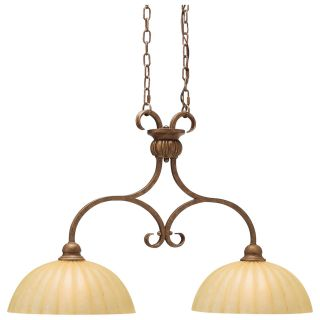 Kichler Pool Table Two Lights/Incandescent Island Light Lincoln Bronze   Billiard Lights