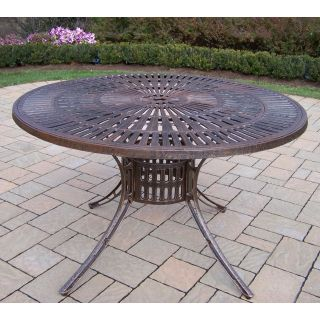 Oakland Living Sunray Cast Aluminum 48 in. Patio Dining Table   Patio Tables