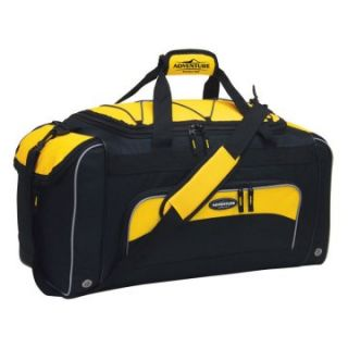 Travelers Club 24 in. Sport Duffel Bag with Wet Shoe Pocket   Yellow/Black   Sports & Duffel Bags