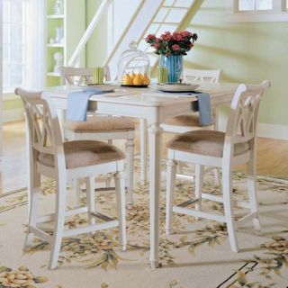 American Drew Camden White Counter Height Stool   Dining Chairs