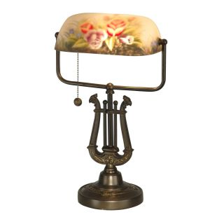 Dale Tiffany Kieler Hand Painted Table Lamp   Tiffany Table Lamps