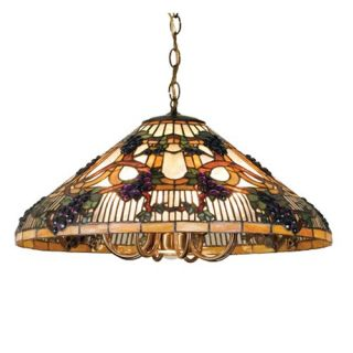 Meyda Jeweled Grape Tiffany Canopy Pendant Light   24W in. Bronze   Tiffany Ceiling Lighting