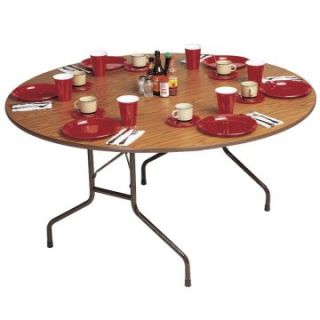 Correll Round High Pressure Laminate Round Folding Table   Banquet Tables