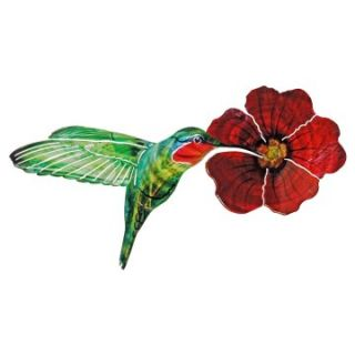 Garden Hummingbird Indoor / Outdoor Light Reflective Wall Art   Outdoor Wall Art