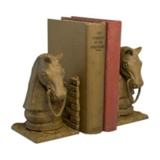 Rust Finish Cast Iron Horse Bookends   Bookends