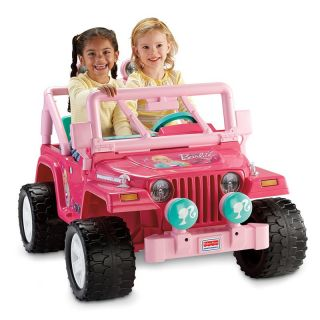 Fisher Price Power Wheels Barbie Jammin Jeep Battery Powered Riding Toy   Battery Powered Riding Toys
