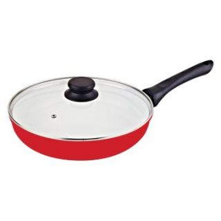 Vinaroz Red 11 in. Die Cast Aluminum Fry Pan   Fry Pans & Skillets