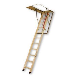 Fakro 8.10 ft. Fire Resistant Wooden Attic Ladder   Ladders and Scaffolding