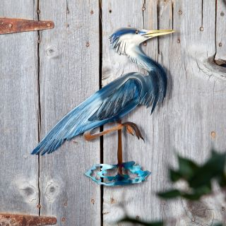 Heron Indoor / Outdoor Light Reflective Wall Art   Outdoor Wall Art