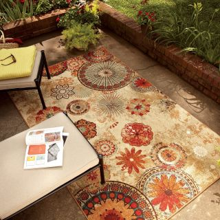 Mohawk Home Alexa Medallion Indoor/Outdoor Rug   Area Rugs