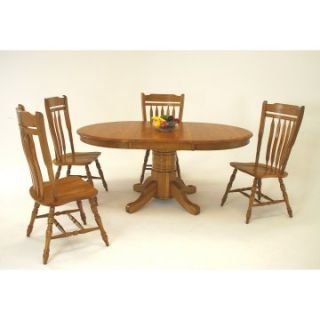 Classic Solid Wood 42 Inch Round Pedestal Dining Table   Dining Tables