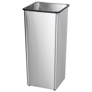 Safco Receptacle Stainless Steel Base 21 Gallon Commercial Trash Can