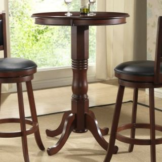 Eden Isle 30 in. Round Pub Table   Burnished Cherry   Pub Tables