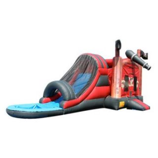 EZ Inflatables Pirate Water Bounce House Combo   Commercial Inflatables