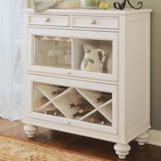 American Drew Camden Bookcase/Sideboard   White   Dining Accent Furniture