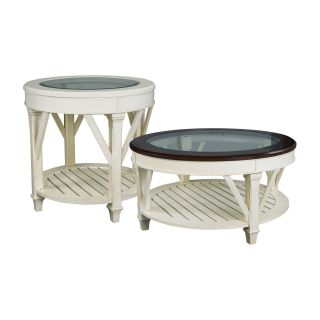 Hammary Promenade 2 Piece Round Coffee Table Set   Coffee Table Sets