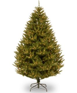 7.5 ft. Feel Real California Cedar Hinged Pre Lit Christmas Tree   Clear Lights   Christmas Trees