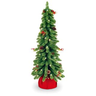 Downswept Forestree Slim Pre lit Christmas Tree   Christmas Trees