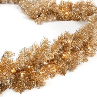 Classic Champagne 9 ft. Pre lit Garland   Christmas Garland