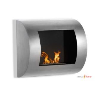 Moda Flame Leon Wall Mount Fireplace   Stainless Steel   Gel Fireplaces