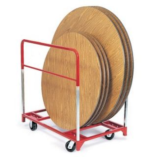 Raymond Products Round Folding Table Mover with 2 Fixed and 2 Swivel 6 in. Phenolic Casters   Table & Chair Carts