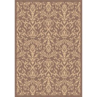 Dynamic Rugs Piazza French Indoor/Outdoor Area Rug   Brown   Area Rugs