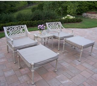 Oakland Living Tacoma Cast Aluminum Conversation Set   Conversation Patio Sets