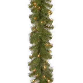 9 ft. North Valley Spruce Pre Lit LED Garland   Battery Operated   Christmas Garland