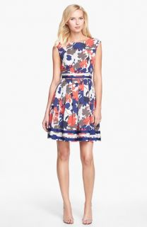 Isaac Mizrahi New York Faille Satin Fit & Flare Dress