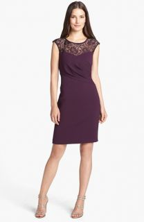 Calvin Klein Lace Yoke Sheath Dress