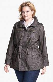 MICHAEL Michael Kors Waxed Cotton Field Jacket (Plus Size)
