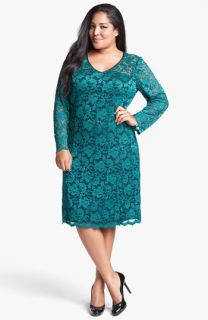 ABS by Allen Schwartz Stretch Lace Dress (Plus Size)