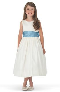 Us Angels Ivory Satin Tank Dress (Toddler, Little Girls & Big Girls)
