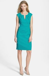 Adrianna Papell Side Pleat Sheath Dress
