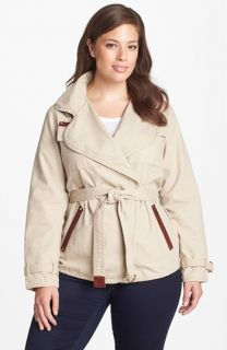 MICHAEL Michael Kors Belted Cotton Jacket (Plus Size)