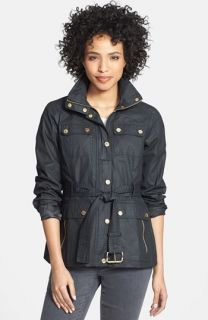 MICHAEL Michael Kors Waxed Cotton Belted Jacket (Regular & Petite)
