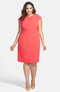 Adrianna Papell Cutout Cap Sleeve Sheath Dress (Plus Size)
