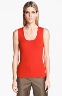 St. John Collection Scoop Neck Rib Knit Shell
