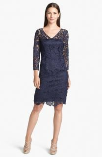 Adrianna Papell Guipure Lace Sheath Dress
