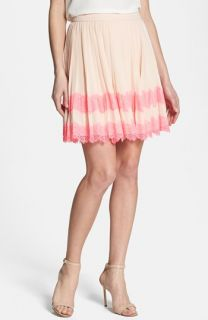 Ted Baker London Pleated Lace Stripe Skirt