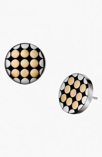 John Hardy Dot Gold & Silver Small Round Stud Earrings