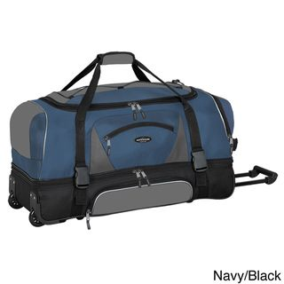 Traveler's Club Adventurer Duffel Collection 36 inch 2 section Drop Bottom Rolling Duffel Traveler's Club Luggage Rolling Duffels