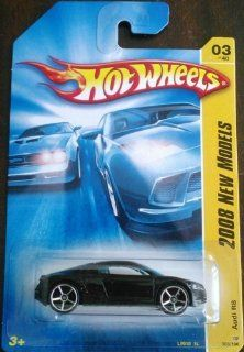 2008 Hot Wheels New Models Audi R8 Black With OH5SP Wheel Variant #003/196 Toys & Games