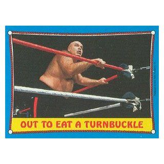 "1987 WWF Topps Wrestling Stars Trading Card #66  George ""The Animal"" Steele  Sports Related Trading Cards  Sports & Outdoors"