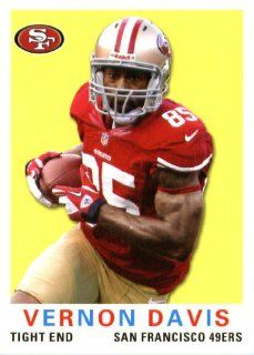 2013 Topps Archives NFL Football Trading Cards # 198 Vernon Davis San Francisco 49ers Sports Collectibles