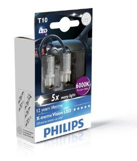 Philips Blue Vision 194 T10 W5W LED Replacement Bulb Automotive