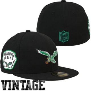 New Era Philadelphia Eagles Team Patch 59FIFTY Fitted Hat   Black