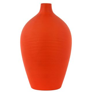 Orange Ceramic Vase Urban Trends Collection Vases