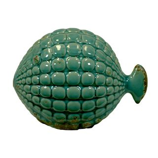 Urban Trends Collection Small Blue Ceramic Fish Accent Piece Urban Trends Collection Accent Pieces