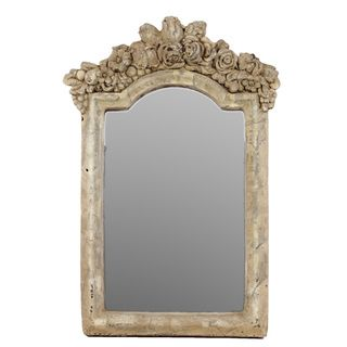 Urban Trends Collection Antique White Cement Wall Mirror Urban Trends Collection Mirrors